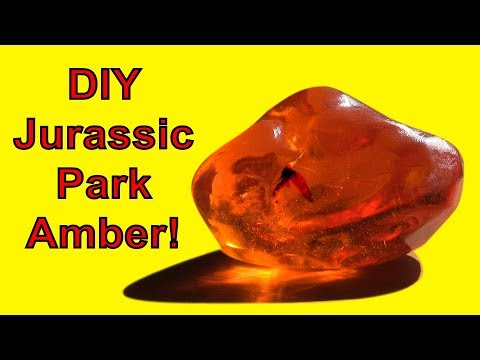 How To Make Jurassic Park Amber (DIY)