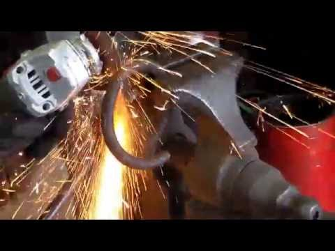 Forging, hardening and tempering a cold chisel from coil spring