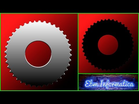 PHOTOSHOP 11 -  RUEDA DENTADA - CREATE A GEAR WHEEL IN PHOTOSHOP