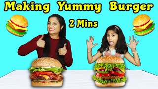 Kids Making Burger In 2 Minutes | Easy Burger Recipe | इजी बर्गर रेसिपी बाय परी