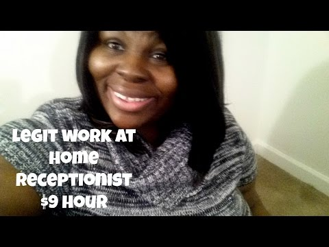Legit Work at Home Receptionist $9 per hour!