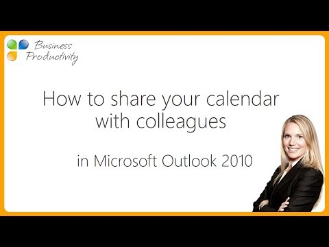 How to share your calendar with colleagues in Microsoft Outlook 2010