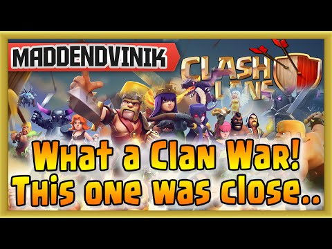 Clash of Clans - What a Clan War! This one was close.. (Gameplay Commentary)