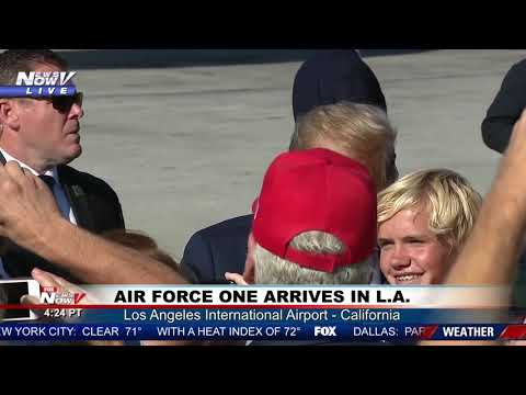 LA WELCOMES THE PRESIDENT: Trump lands in SoCal for roundtable, joint fundraising committee dinner