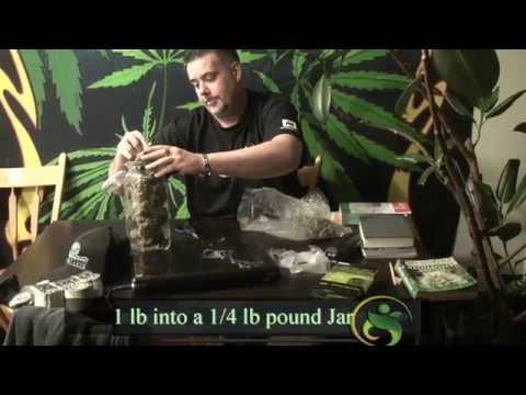 1 lb Weed into 1/4 lb Jar