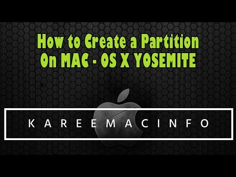 How to create a Partition on Mac -  OS X Yosemite