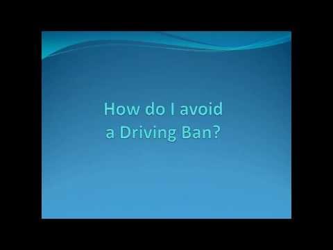 Avoid a driving ban