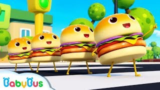 Learn Numbers with Four Little Hamburgers   Color Song   Nursery Rhymes   Kids Songs   BabyBus