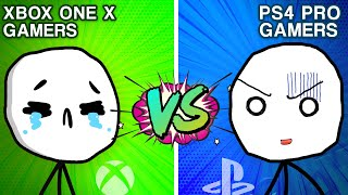 PS4 Pro Gamers VS XBOX ONE X Gamers
