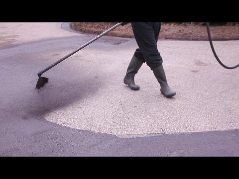 Asphalt Sealing a LARGE Driveway (We Mean Clean)