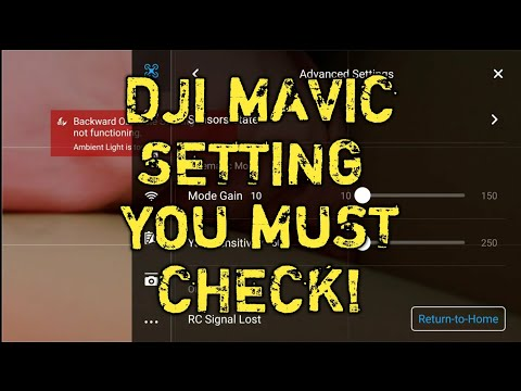 DJI Mavic Pro/Air setting you must CHANGE/CHECK before you fly your drone.