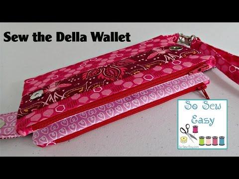 Sew the Della Wallet Clutch Bag