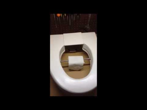 Toilet seat that wipes your bum.