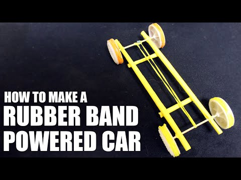 How to make a rubber band powered car - Paper Car Tutorial