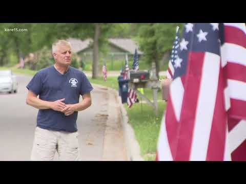 Hundreds of flags now the glory of Golden Valley neighborhood