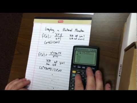 Graph a Rational Function Using a Graphical Calculator - 21