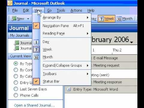 Microsoft Office Outlook 2003 Change the way a timeline looks