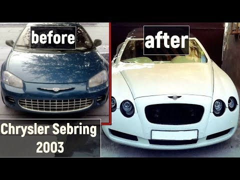 Bentley Continental GTC replica build from Chrysler Sebring 2003