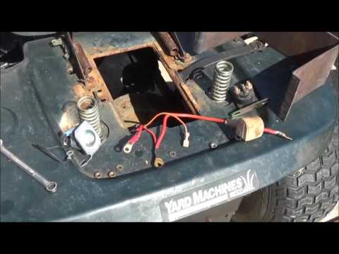 Changing starter solenoid on lawn tractor  July 1, 2017
