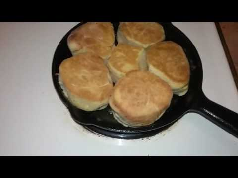 Cast-iron Homemade Spelt Biscuits. Yeast and baking powder free