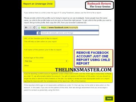 Remove Someone Facebook Fake Account Permanently In One Report ! Report an Underage Child | Facebook
