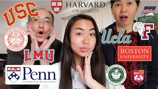 COLLEGE DECISIONS REACTIONS 2020 (USC, UCLA, Harvard, UPenn Wharton, Northeastern, Boston U, + more)