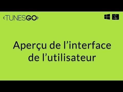 Wondershare TunesGo: Aperçu de l'interface d'utilisateur