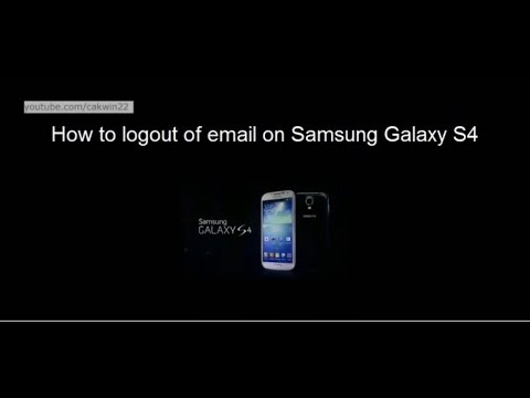 Samsung Galaxy S4 : How to Logout of Email (Android Kitkat)