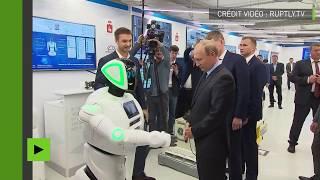 «Bonjour, Vladimir Vladimirovitch» : un robot salue le président russe dans une exposition