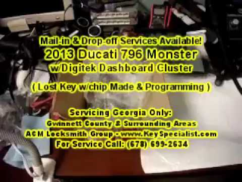 2013 Ducati 796 Monster - Lost Key Made & Chip Programming. Using our Mail-in Services.