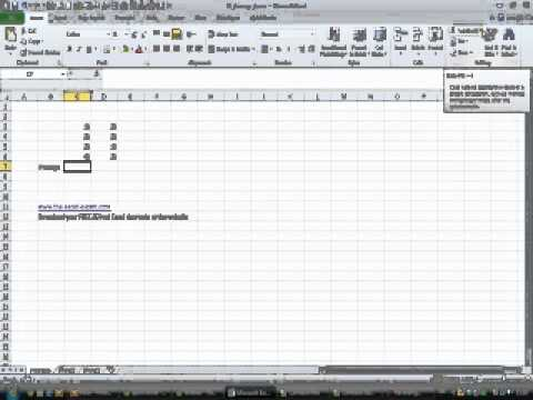 How to find the average for a list of numbers in Excel 2010