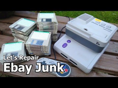 Let's Repair - Ebay Junk - Super Wild Card - Floppy Pirates - SNES Jr