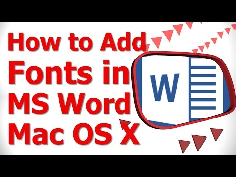 How to Add Fonts in MS Word Mac OS X