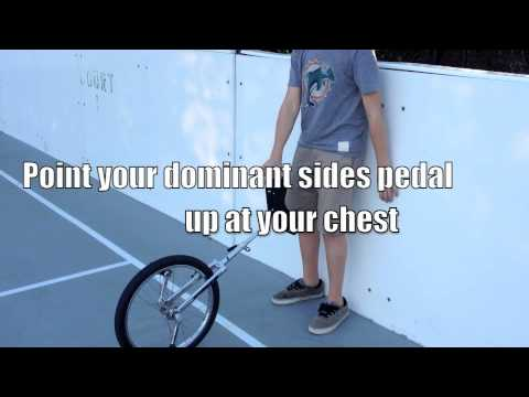 How To- Get up on a unicycle with a wall