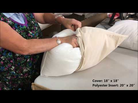 hometex.ca Pillow Form Sizing