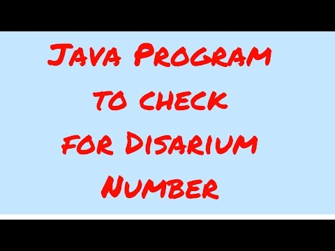 Java program to check for Disarium number