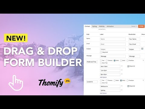 How to Add a Contact Form To Your Themify Site!