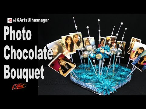 Photo Chocolate Bouquet | Valentine's Gift Idea | How to make | JK Arts 1163