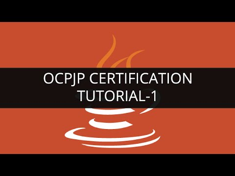 OCPJP Certification Tutorial - 1   Edureka