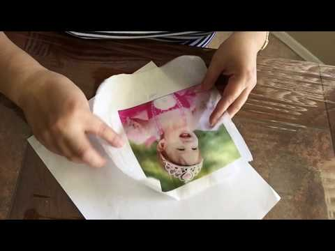 How to Print on Tissue Paper. Photo Transfer on Canvas. Image Transfer. (007)