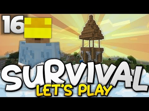 BUILDING THE WATCHTOWER!! - Survival Let's Play Ep. 16 - Minecraft Bedrock (PE W10 XB1)
