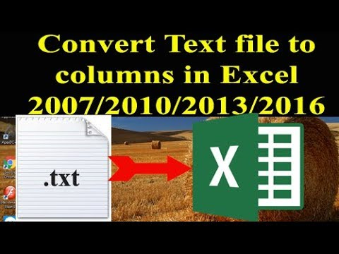 Convert Text file to Excel 2007/2010/2013/2016