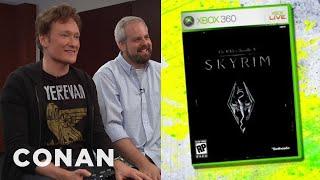 """Conan O'Brien Reviews """"Skyrim"""" - Clueless Gamer   CONAN on TBS"""