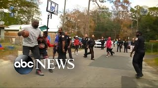Shaquille O'Neal Joins Florida Cop to Surprise Kids at Pickup Basketball Game