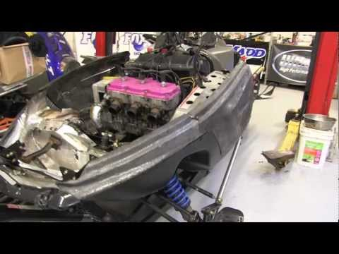 Trailing arm replacement, Polaris XLT mod sled 600 triple!  PowerModz!!