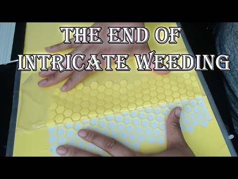 How to get 2 stencils from 1 cut | reverse weeding | Intricate decals