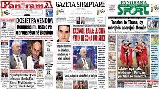 """17 tetor, 2018 """"Shtypi i dites"""" në News24 - """"Koha për t"""