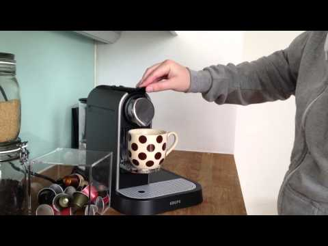 Make an Americano coffee with Nespresso machine