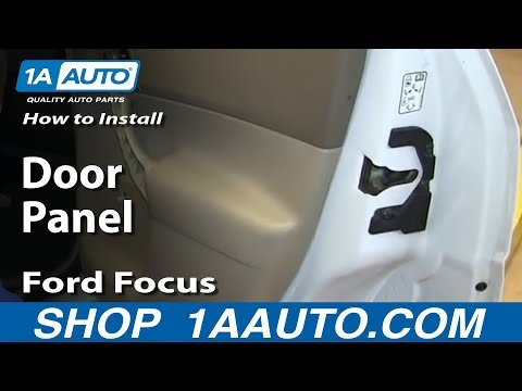 How To Install Remove Rear Door Panel (manual windows) 2000-07 Ford Focus