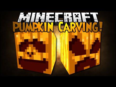 Minecraft Mod Showcase: PUMPKIN CARVING!
